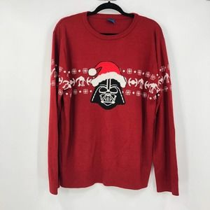 Star Wars Darth Vader Christmas Sweater Size XL Mens Red Party Holiday